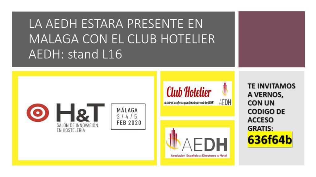 La AEDH en H&T Salón de Innovación en Hosteleria