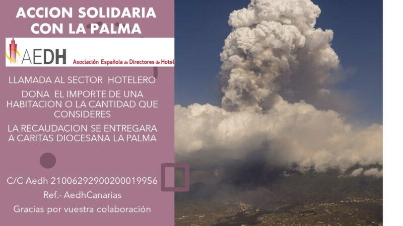 Acción solidaria Aedh con La Palma